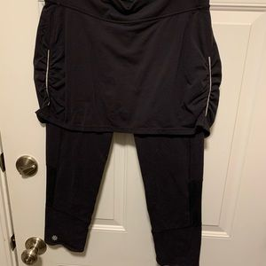 Athleta capri Skort size medium black skirt